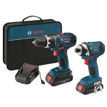 Bosch 18-Volt Compact Tough Drill & Impact Drivers (2) Slim Batteries Combo Kit