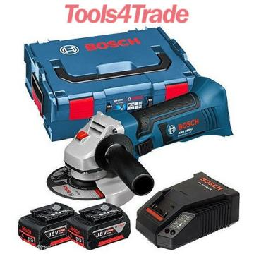 Bosch 18v GWS18 V-LI Cordless Angle Grinder + 2 x 4.0Ah Batteries + Charger