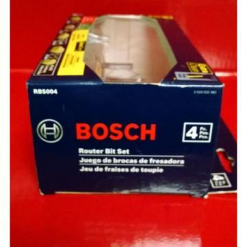 "Bosch 4 piece Professional 1/4"" Router Bit Set RBS004 Brand New in Box"