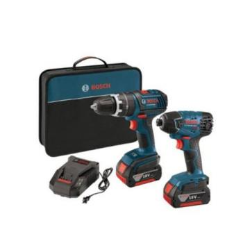 2-Tool 18-Volt Lithium-Ion Cordless 1/2 in Compact Tough Hammer Drill Driver Kit