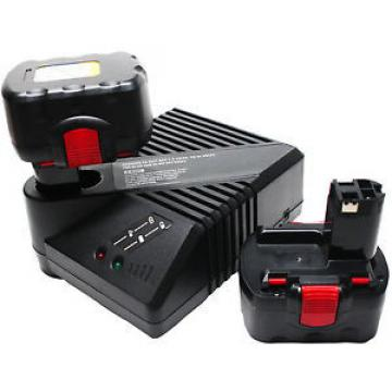 2-Pack 12V Battery 1.3Ah & UniCharger for Bosch Exact 12, 22612, GSB 12 VE-2