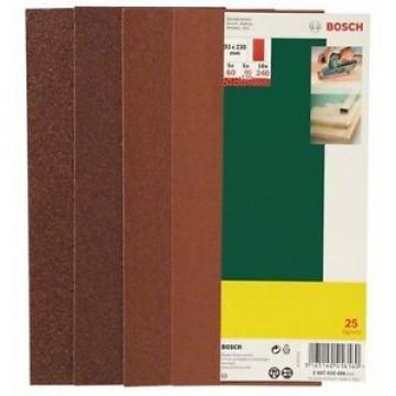 Bosch 2607019498 25 Fogli ABR, 93 x 230, Fori Grana 60-240