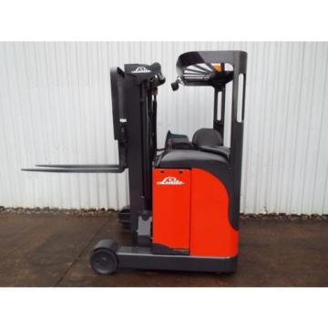 LINDE R10CS USED REACH FORKLIFT TRUCK. (A01738) PRICE REDUCED