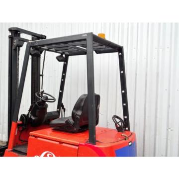 LINDE E16P. 3800mm LIFT. USED ELECTRIC FORKLIFT TRUCK. (3885)