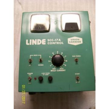 UNION CARBIDE LINDE SSC-17A CONTROL BOX 0-10 WELD CURRENT 10 AMP LINE FUSES