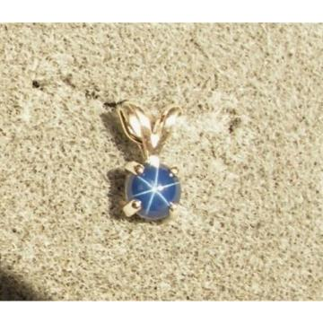 VINTAGE LINDE LINDY PETITE 5MM RD CF BLUE STAR SAPPHIRE CREATED EAR PND CHN  SS