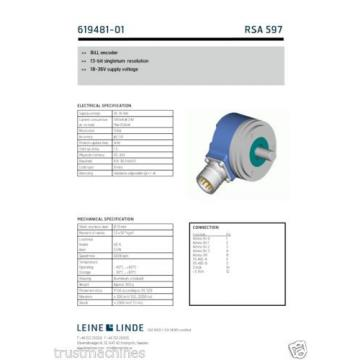 Leine Linde 13Bit singleturn BiLL Encoder RSA 597  619481-01 stock Dubai