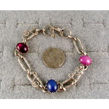 LINDE LINDY STAR SAPPHIRE CREATED RUBY STAR BRACELET NPM SECOND QUALITY DISCOUNT
