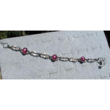 LINDE LINDY TRANS RED STAR RUBY CREATED BRACELET NPM SECOND QUALITY DISCOUNT