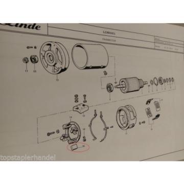 Juego escobillas carbóN 4Stk Motor de traccióN Linde Nº 0009718143 Tipo T,L,N BR