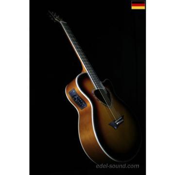 40` Westerngitarre Nika sunburst, breiter Hals, Decke Fichte Korp. Linde, Cut EQ