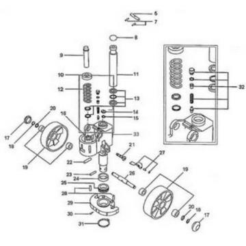 Seal kit for Linde M25 series 3 hand pallet truck/ pump truck