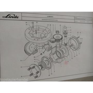Roulement à aiguilles Palier Linde No. 9509000875 Type H/T/L/E BR 131,144,