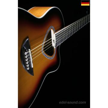 40` Westerngitarre Luisa sunburst, breiter Hals, Decke Fichte Korp. Linde Cut EQ