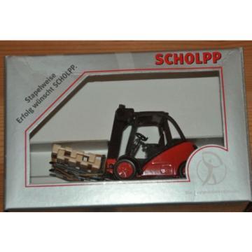 SCHOLPP PROMOTION SIKU Linde 39X forklift truck fork lift VERY RARE MiB