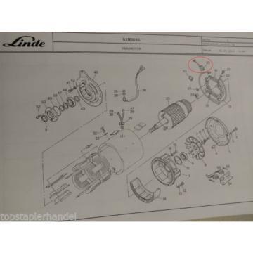 Escobilla de carbón Motor de tracción Linde Nº 0009718116 Tipo E20/25/30 BR 325