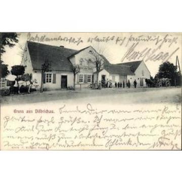 Ak Döbrichau Beilrode in Sachsen, Gasthof zur Linde, Anwohner,... - 1476748