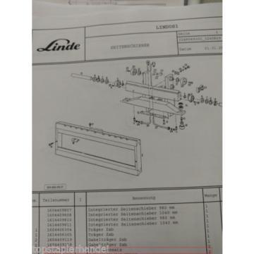 Dichtsatz für integr. Seitenschieber Linde 0009629002 E12/15/16/20 BR 322, 324