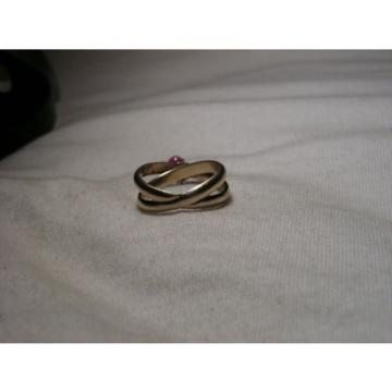 ...Gold Vermeil Sterling Silver,Linde/Lindy Ruby Star Sapphire Dangle Charm Ring