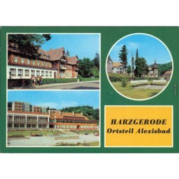 """Alexisbad Harzgerode Hotel """"Linde"""" und Café Exquisit  Scholl"""", Kreisstraße 1982"""