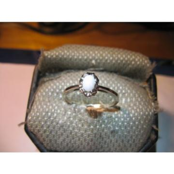 WHITE LINDE STAR SAPPHIRE RING .925 STERLING SILVER SIZE 10.5
