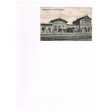 Bahnhof Linde bei Flatow in Pommern - gelaufen 1920 (Ostbahn)