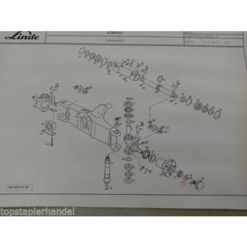 Arandela separadora especial para Eje de dirección Linde 0009141439 H12/16/18