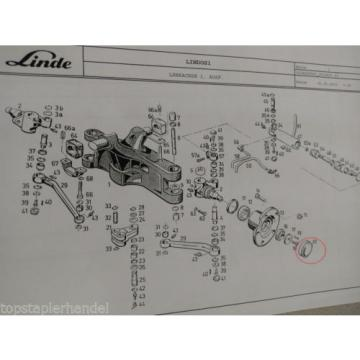 Tapacubos Linde Nº 3414540300 Tipo R, E, H BR113,115,322,324,325,330, 351 etc.