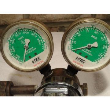 Linde R-76-150-540 8702 Trimline Dual Gauge Oxygen Regulator steam punk vintage