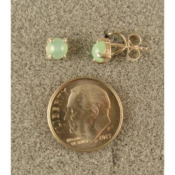 VINTAGE LINDE LINDY PETITE 5MM MINT GREEN STAR SAPPHIRE CREATED EARRINGS.925 S/S