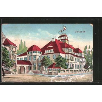 alte AK Oetzsch, Gasthaus zur Linde 1913