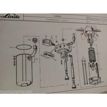 Carbon brush set Pump aggregate Linde no. 0009718148 Type N20/N20H BR 377