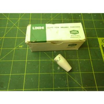 LINDE 84Z36 UNION CARBIDE H29 CUPS FOR HELIARC TIG TORCHES SIZE 4 (QTY 10) 55338