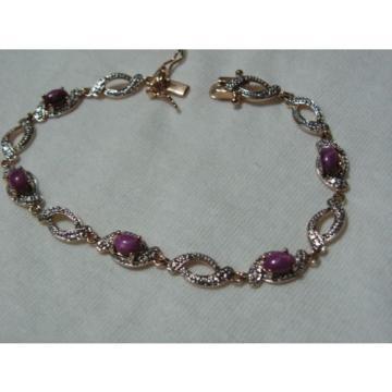 ...Beautiful Gold Vermeil,Linde/Lindy Ruby Star Sapphires Bracelet...