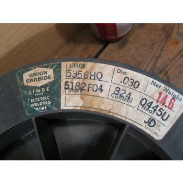 """14.6/lbs 5356HQ Aluminum Welding Wire 0.030"""" on a 12"""" Spool ( LINDE  )"""