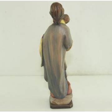 Skulptur Holz Linde Maria Madonna Mutter Gottes Jesus Kind H:38cm Handgeschnitzt