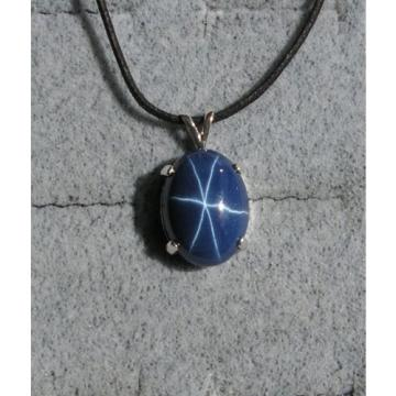 16X12MM 9+CT LINDE LINDY CRNFLWR BLUE STAR SAPPHIRE CREATED SECOND PENDANT 925