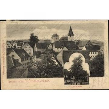 Ak Wildentierbach Niederstetten BW, Ortschaft, Alte Linde - 1609919