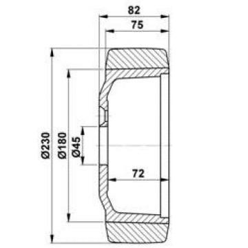 Antriebsrad für Still / Jungheinrich / Linde  230 x 71 x 45 Vulkollan Belag