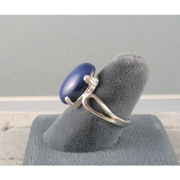 16X12MM 9+CT LINDE LINDY CRNFLWR BLUE STAR SAPPHIRE CREATED SECOND RING .925 SS