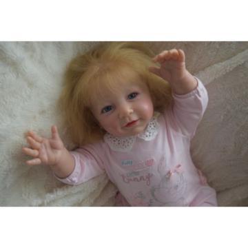 "Reborn baby girl doll Lisa by Linde Scherer 22"""