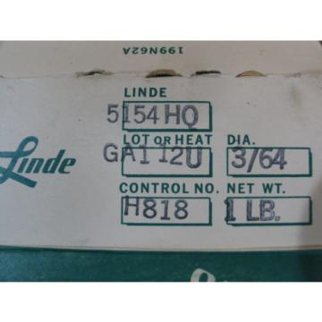 """Two 1lb 5154 Aluminum ( 3/64"""" MIG Welding Wire)-on a 4"""" Spools (LINDE,Inc)"""