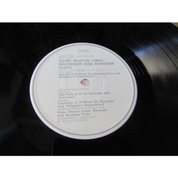 HANS MARTIN LINDE BACH TELEMANN SAMMARTINI STAMITZ RCA JAPAN AUDIOPHILE LP