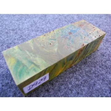 gemaserte Linde Maserlinde grün stabilisiert Messergriffblock 110x39 x28 mm D929
