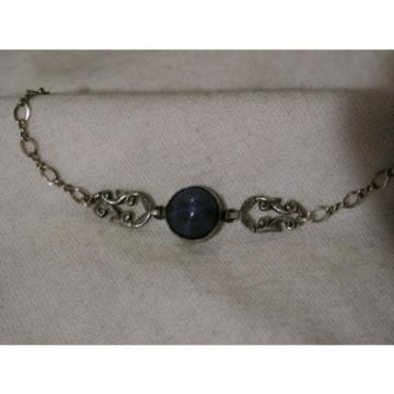 ...Vintage Sterling Silver,3.5ct 9mm Linde/Lindy Blue Star Sapphire Bracelet...
