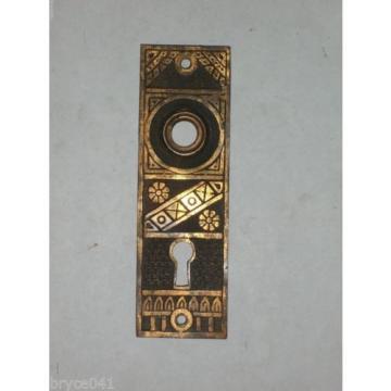 Antique Eastlake Door KNob Backplates by F.C.Linde