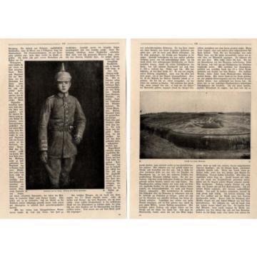 Leutnant von der Linde ( Eroberer von Fort Malonne ) Foto-Bericht c.1917