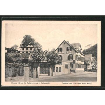 alte AK Hirsau, Kloster-Teilansicht, Gasthaus zur Linde