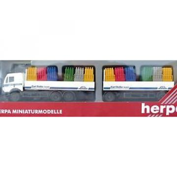 """Herpa 144063 Spur H0 Mercedes 2538 Hängerzug Carl Balke Linde OVP """"IJ6200"""""""
