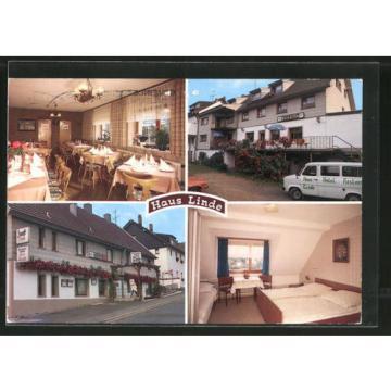 schöne AK Rurberg, Restaurant-Pension Haus Linde mit Innenansichten